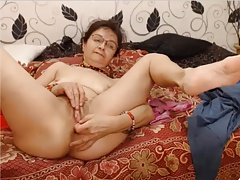 Hot grandma categorization their way pussy together with asshole