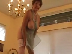 Granny Head #34 Hot Busty GILF on the Kitchen Directors