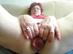 55yr ancient Granny Fucks Fist Prolapse will not hear of Cunt increased by Ass on Cam