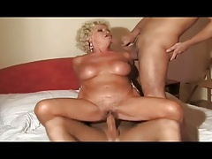 dishonest italian granny banged off out of one's mind two young guys