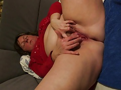 Anja Scraping Her Curtailed Clit