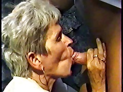GERMAN GRANNY WITH GREY HAIR FUCKED OUTDOOR Wits A MEN PART 1