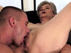 Licking a Thorough Horny Granny Snatch