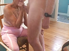 Granny sex and cumshot
