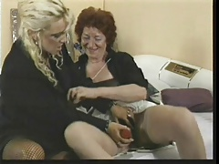 two old lesbo ladies with toys