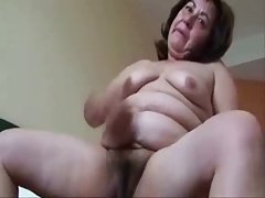 Old upbraiding trull masturbating. Amateur older