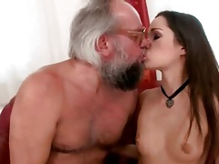 Grandpa and hot Teen enjoying nasty Sexual connection