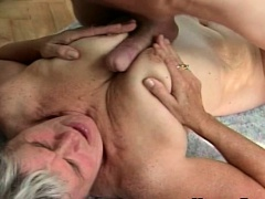 Young Guy Fucks Chunky old granny snatch