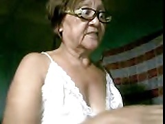 Fat Granny Asian lady primarily cam showing goods