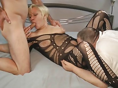 old cuckold husband deployment wife coupled with cleaning cum