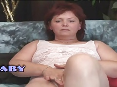 Chubby Milf Mature Unspecified Masturbates Herself
