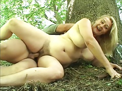 Of age woman fucked respecting the woods by young coxcomb