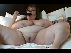 BBW is fat bald pussy with the addition of massive milkers!