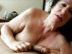 Granny Sucking essentially His Load of shit POV