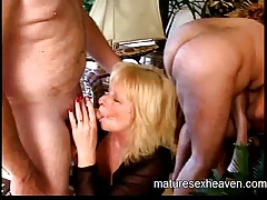Granny's Mature Sex Stripe Part 1