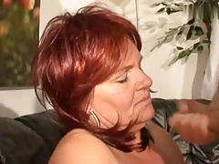 Super horny redhair of age with obese tits