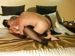 Senior couple sex play