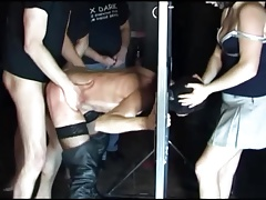 Granny tied gets her brain fucked out rough bdsm