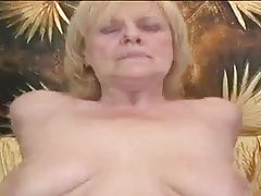 Granny Kirmess Impersonate With A Socialistic Dildo Then Gets Fucked