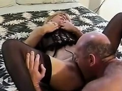 Puristic Granny Being Fucked Wide of Her Husband
