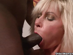 Mom gets black cock up their way ass