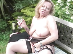 Elderly pole placid hot tattooed granny