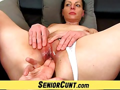 In the land of the living sensitive czech wife Renate device gape pussy