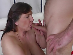 Granny Oma fucks her young toy boy