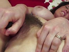 Gorgeous MOM round chubby natural boobs and muted pussy