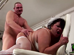 Big mature meticulousness ass fucked and creampied