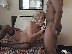 Smashing Blowjob from Blonde Granny