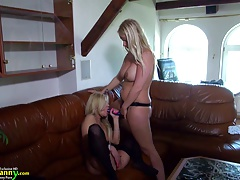OldNanny Age-old and young lesbians play hard