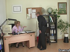 He fucks ill-tempered mature office woman