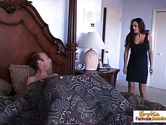 Unreasonable cougar can't say doll-sized to a big hard load of shit