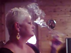 Hot Experienced Cougar Smoking Solo