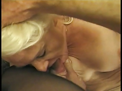 Hairy dude eats out a still X-rated bazaar granny