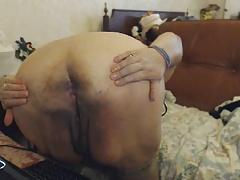 Chubby Tit Natasha shows Chubby Ass Oma