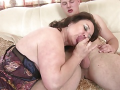 Mature mom added to wife seduces young not say no to son