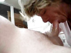 Granny sucks concurring and swallows reward