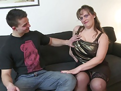 Young son fucks sexy mature domineer not his mama