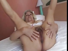 Comme ci Old Lady Forth Nice Knockers Fucks A Rubber Dildo Video