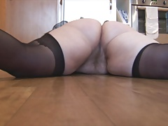 Grown-up bbw with puristic pussy and chunky round nuisance strips
