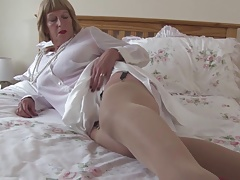 Sexy grandmother with big special coupled with energized cunt